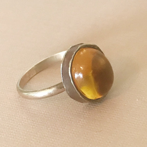 Honey Glass Ring