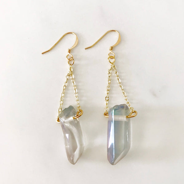 Aura Quartz Earrings