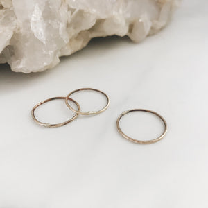 Brass Midi Ring Set of 3