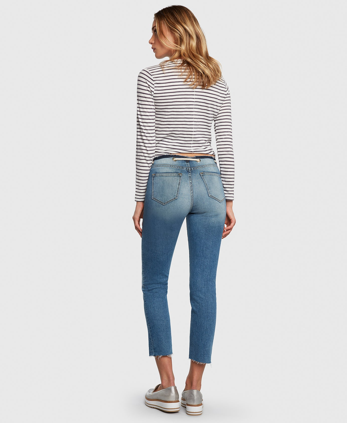Principle CASTAWAY in Holiday cropped jeans back