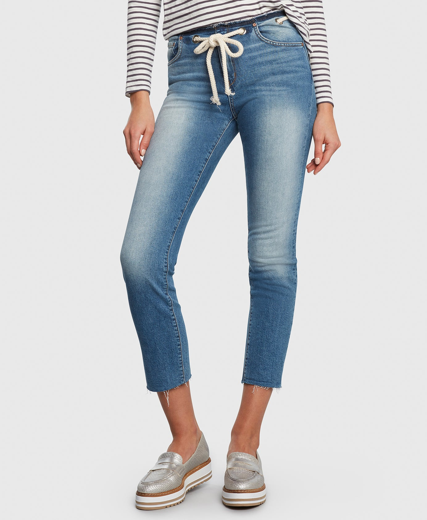 Principle CASTAWAY in Holiday cropped jeans detail