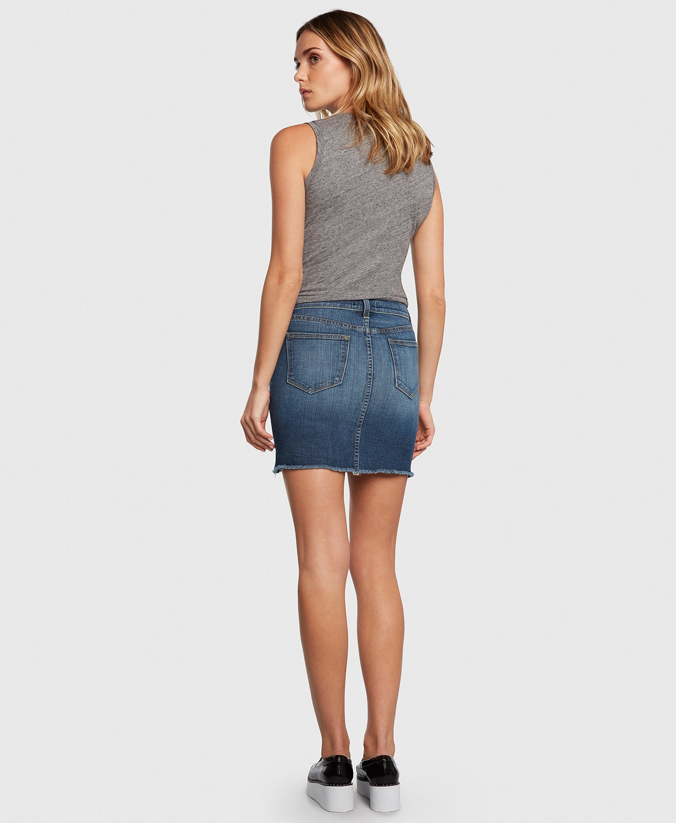 Principle CHARMER in Bad Romance denim skirt back