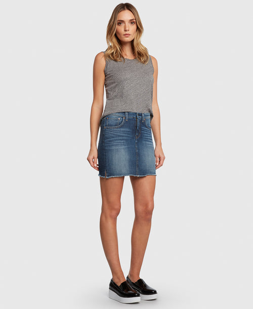 Principle CHARMER in Bad Romance denim skirt side