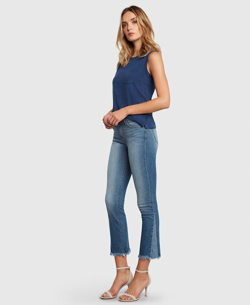 Principle Jeans DARE in Holiday cropped flare side