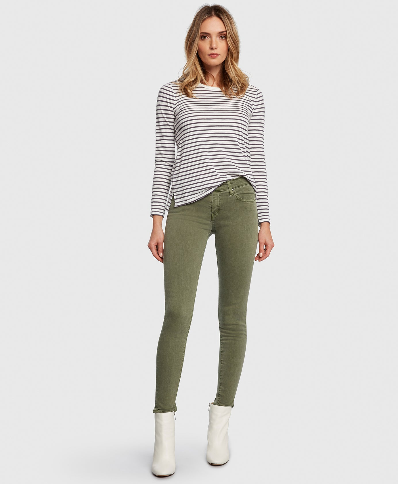 Principle Women's Jeans DREAMER in Eden green twill