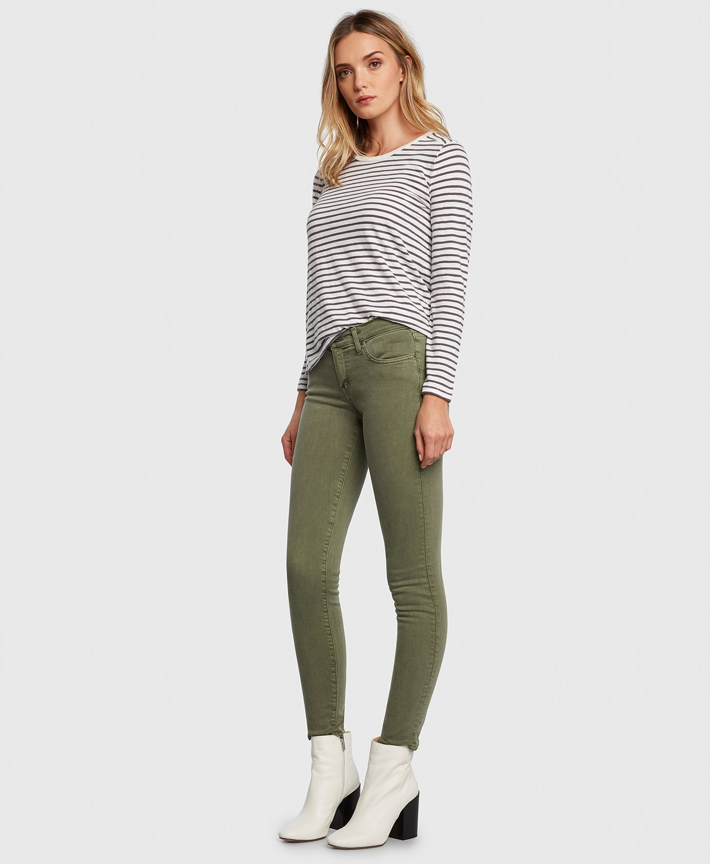 Principle Women's Jeans DREAMER in Eden green twill side