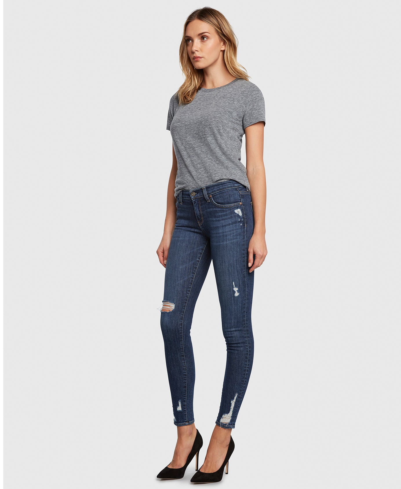 Principle DREAMER in Fastlane skinny jeans with holes side