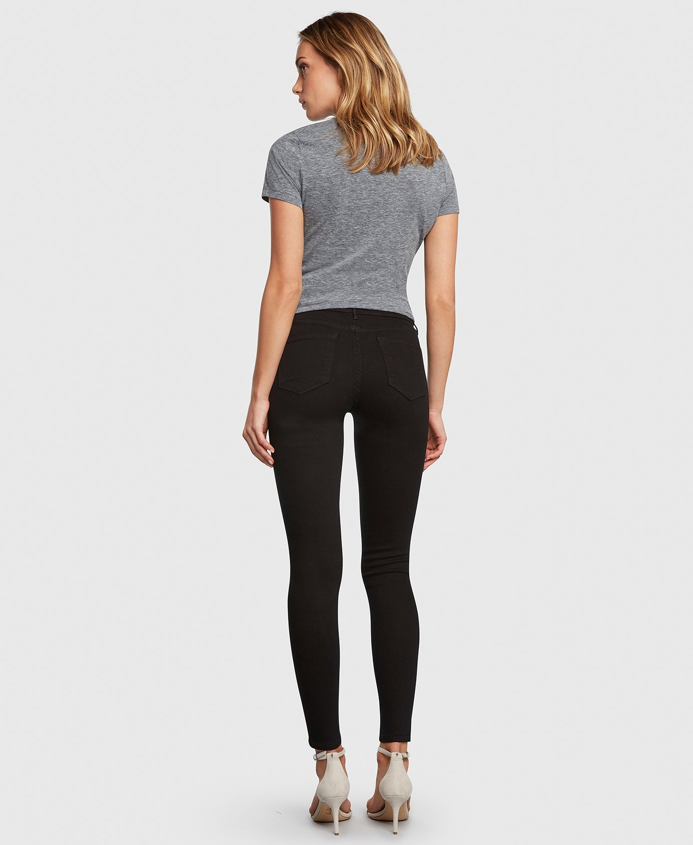 Principle DREAMER in Painted Black flattering skinny jeans back