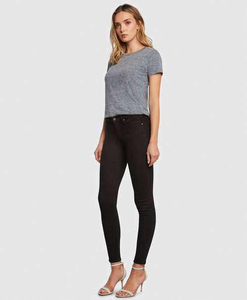 Principle DREAMER in Painted Black flattering skinny jeans side