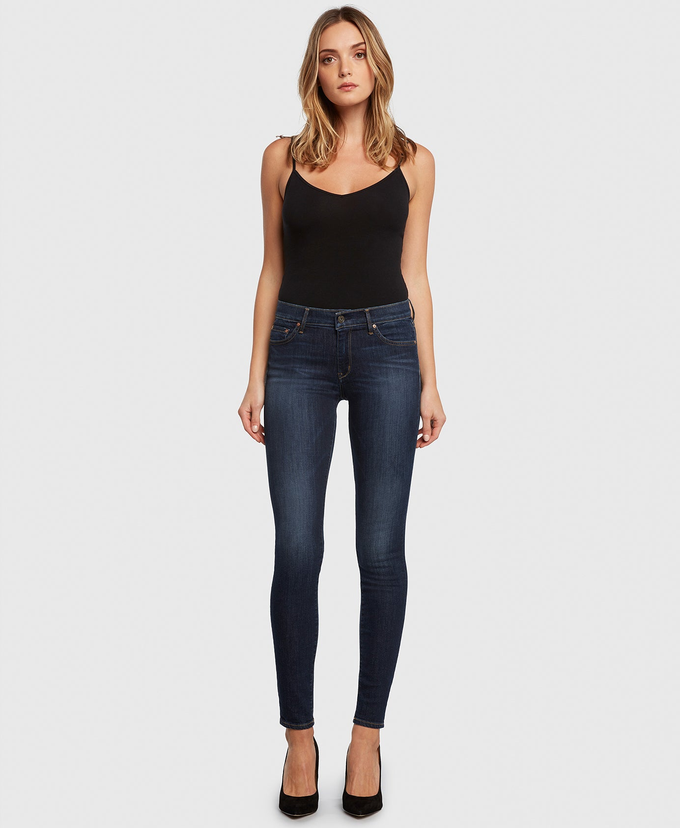 Principle DREAMER in Poison Heart dark wash skinny jeans