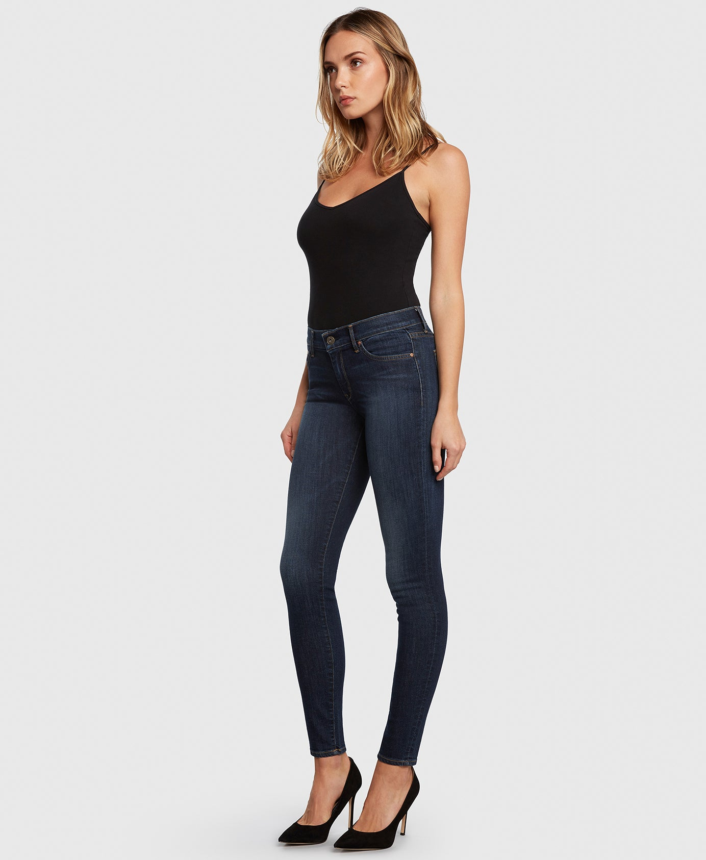 Principle DREAMER in Poison Heart dark wash skinny jeans side