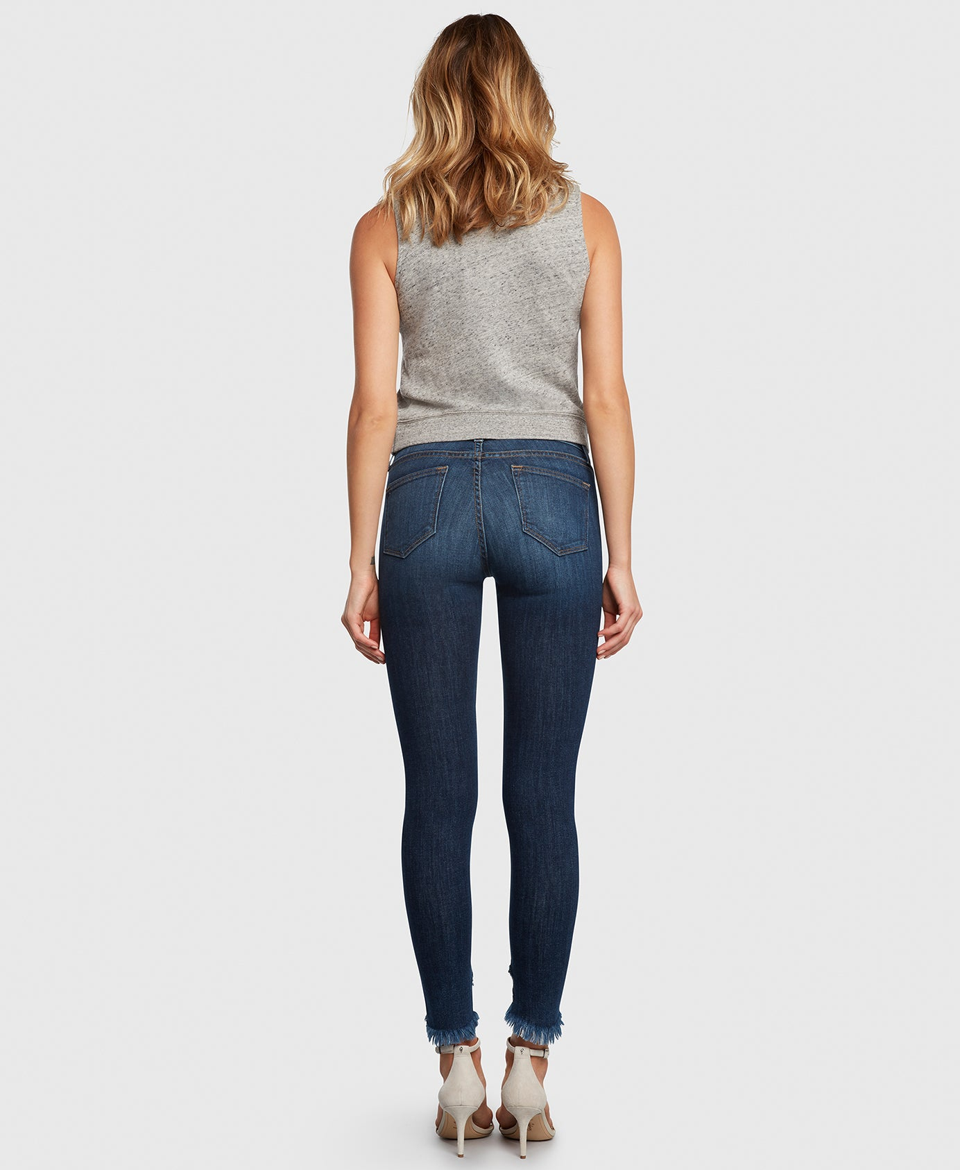 Principle DREAMER in Roll With It raw hem skinny jeans back
