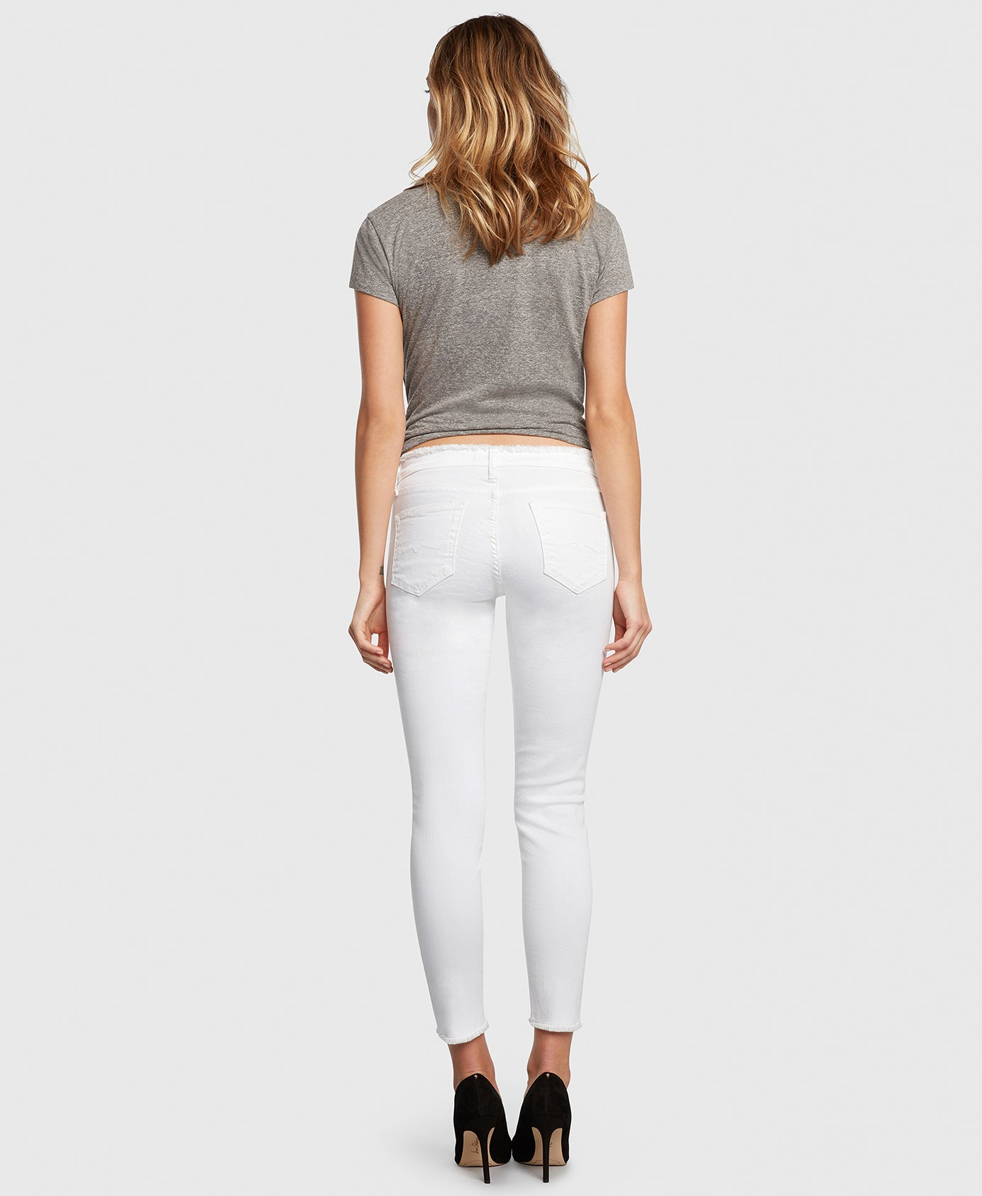 Principle DREAMER in White Tripper raw edge jeans back