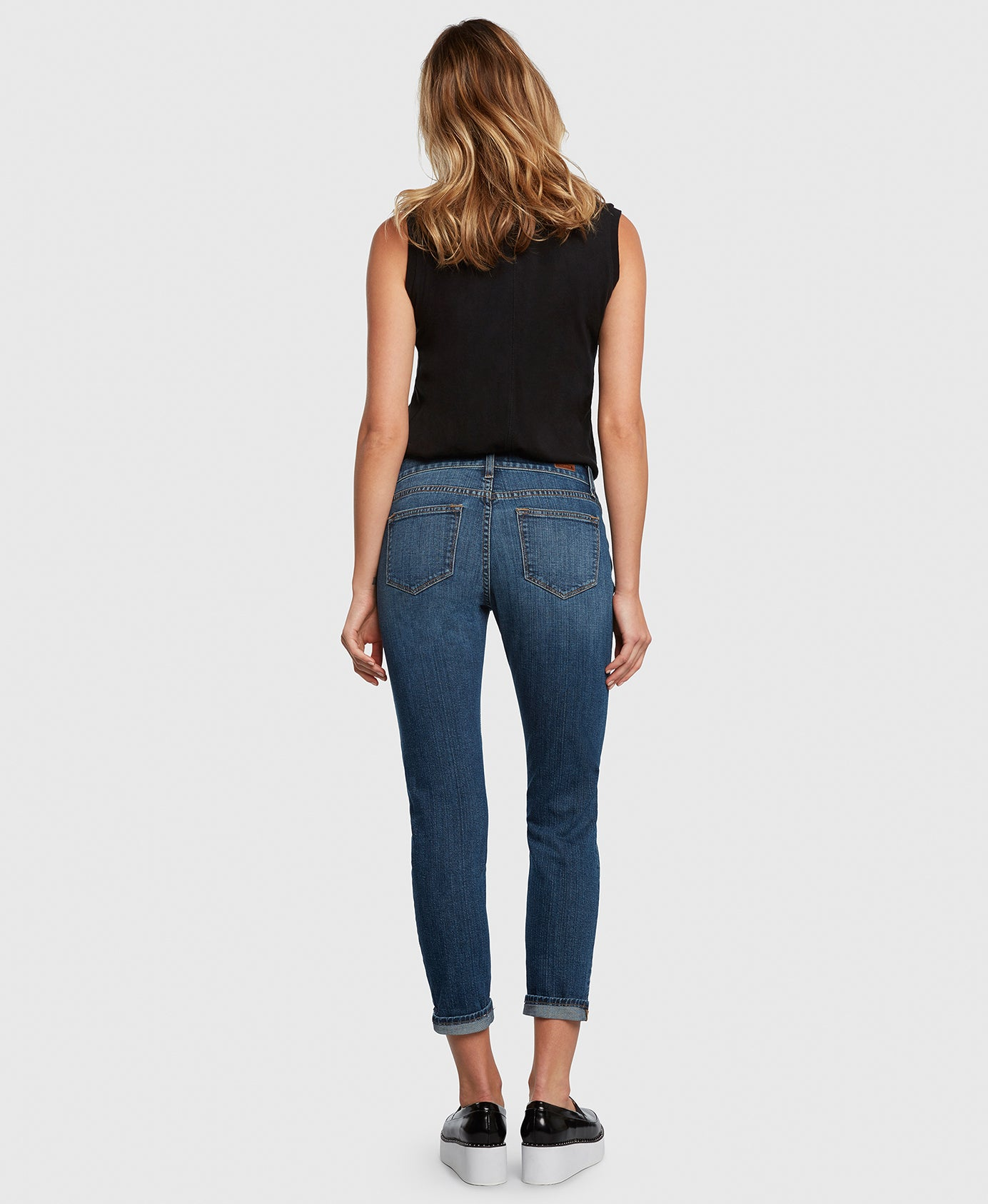 Principle FAVORITE in Movin' On boyfriend jeans back
