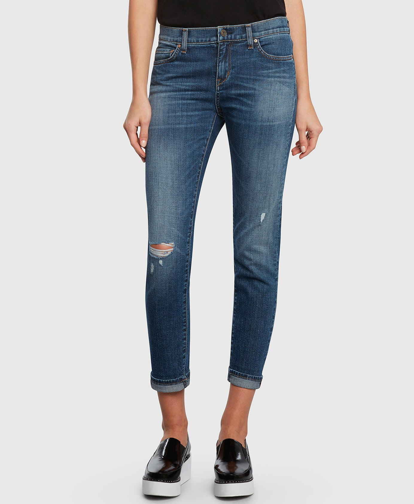 Principle FAVORITE in Movin' On boyfriend jeans detail