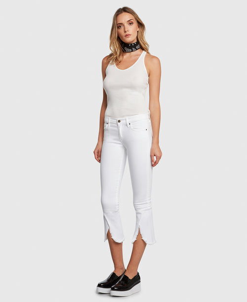 Principle FLIRT in Promise cropped jeans side