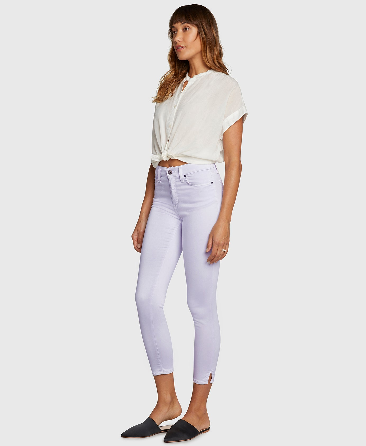 the GEM in Pale Lavender Sateen