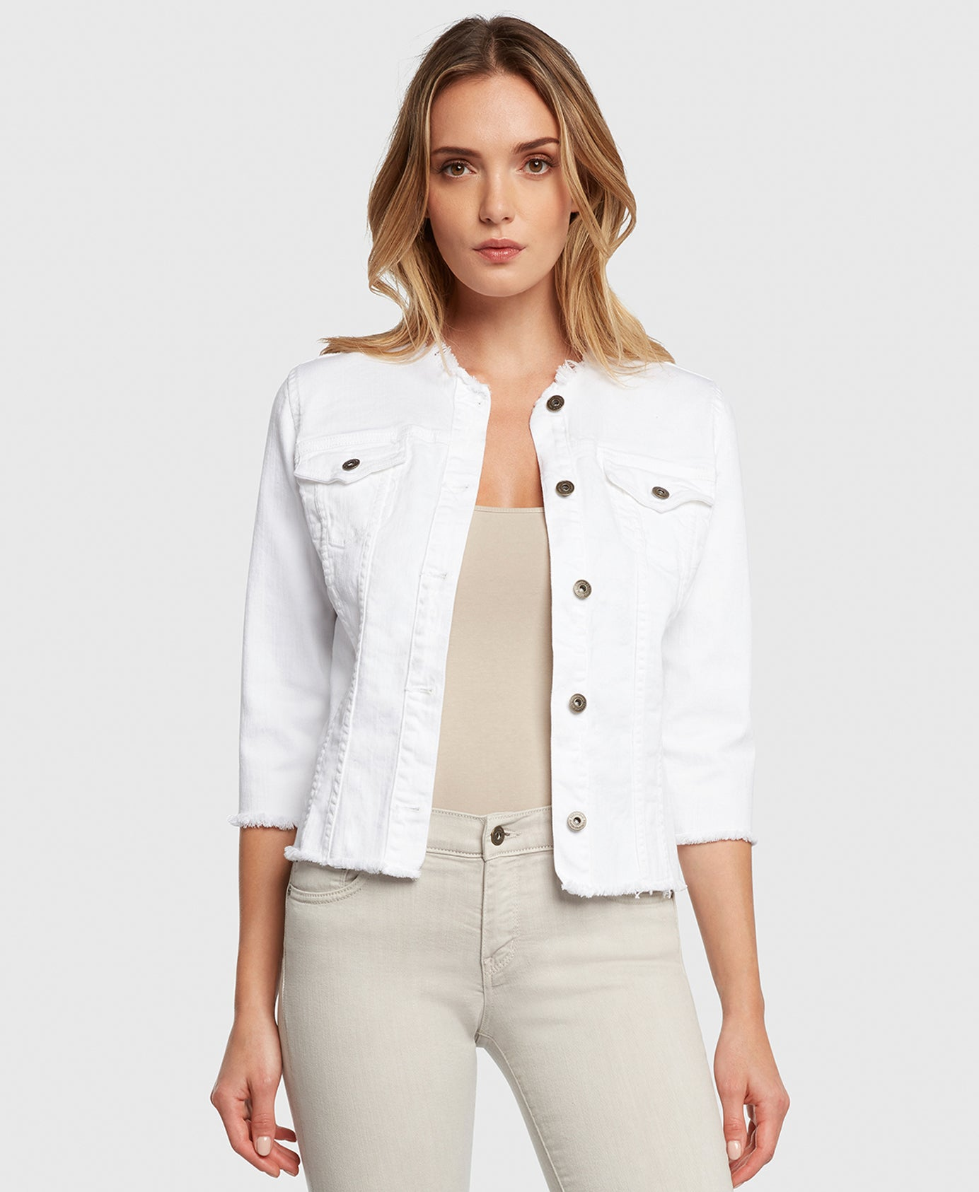 Principle denim jacket JEWEL in White