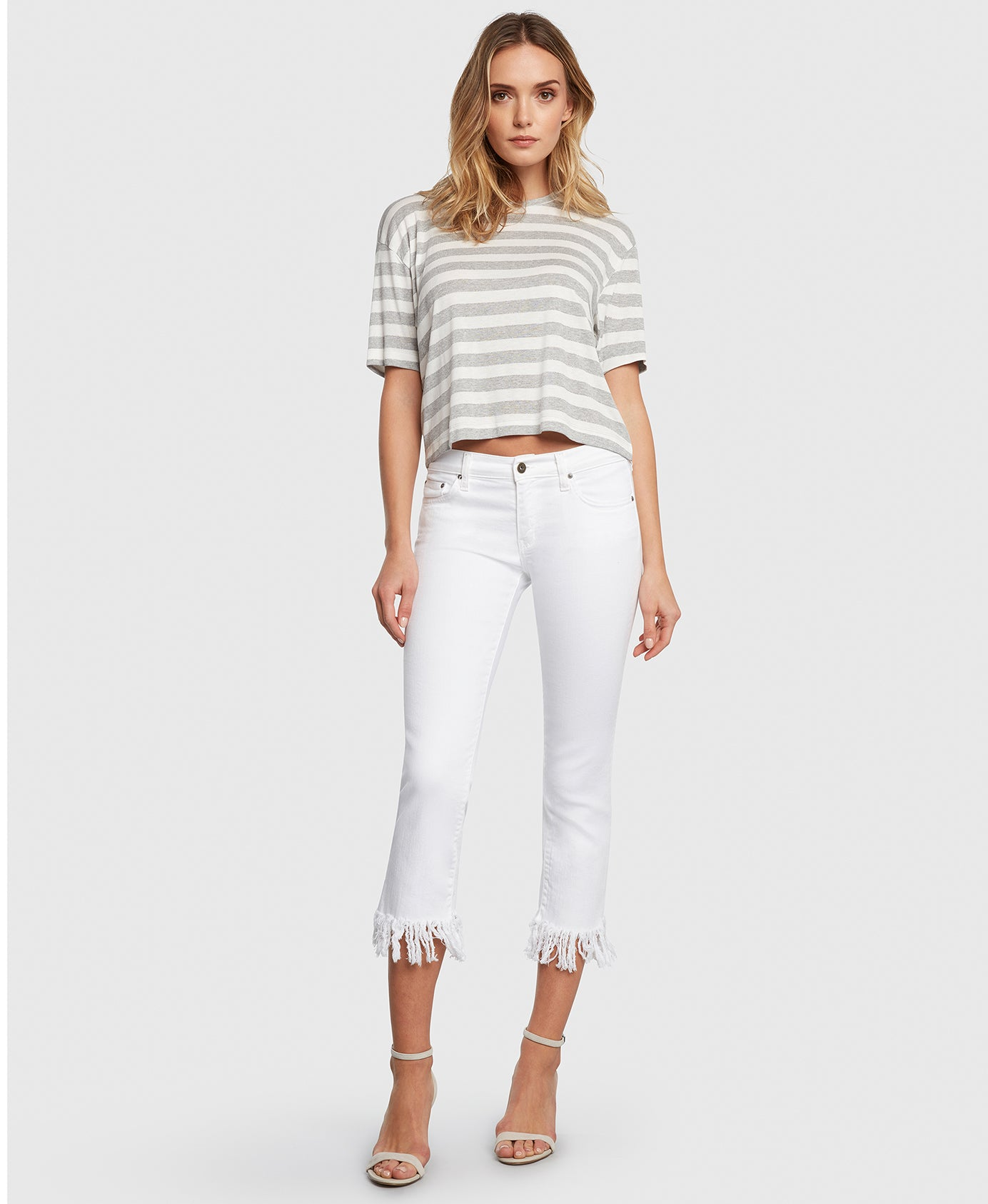 Principle mid rise OPTIMIST in Magnolia white jeans