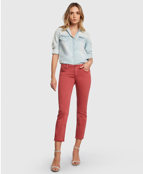 Principle OPTIMIST in Nantucket red denim
