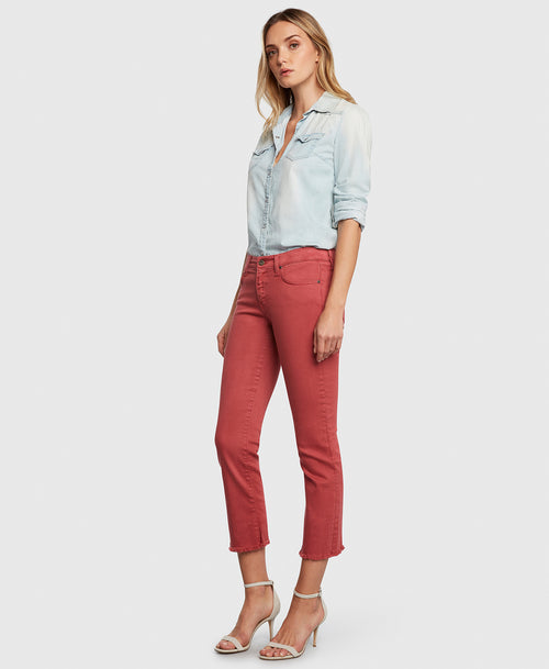 Principle OPTIMIST in Nantucket red denim side