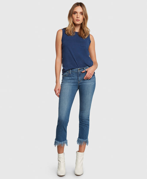 Principle OPTIMIST in True cropped jeans