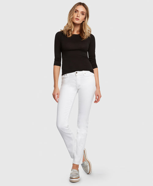 Principle ULTRA in White straight leg jeans