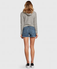 WANDERER in Bad Romance denim shorts back