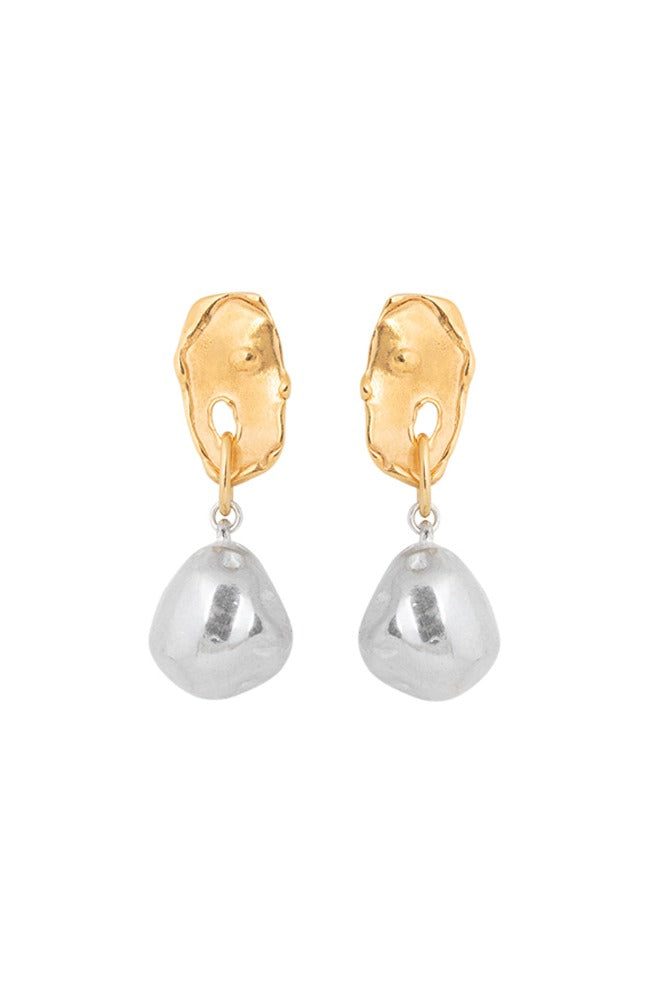 Cast Freshwater Pearl Drop Earrings 002