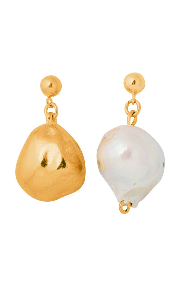 Baroque & Cast Pearl Drop Earrings