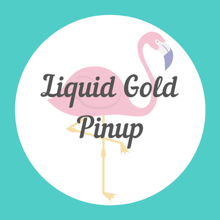 Liquid Gold Pin-Up