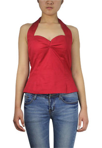 Rockabilly Halter Top - Red