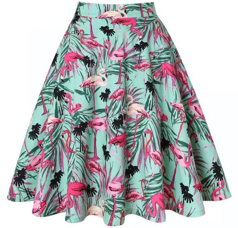 Flamingo Swing Skirt