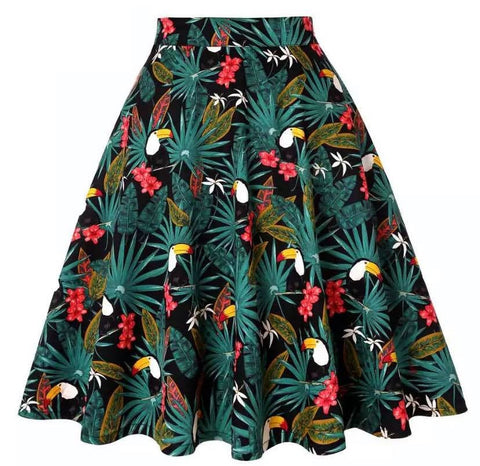 Toucan Tropical Swing Skirt