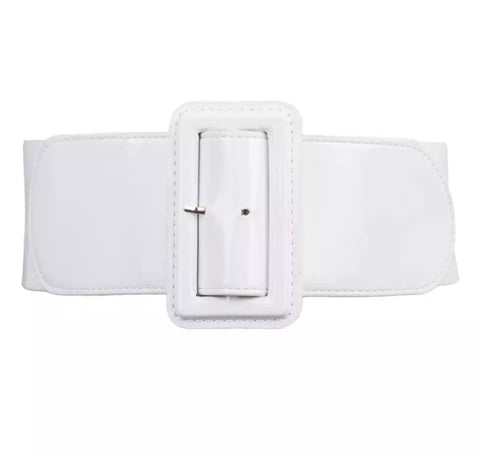 PU Elastic Belt - White