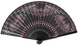 Handheld Fan - Batty Pinstripe