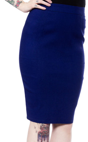 Essential Pencil Skirt - Blue