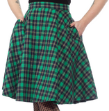 Bonnie Plaid Green Skirt