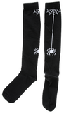 SPIDER & WEB KNEE SOCKS BLACK