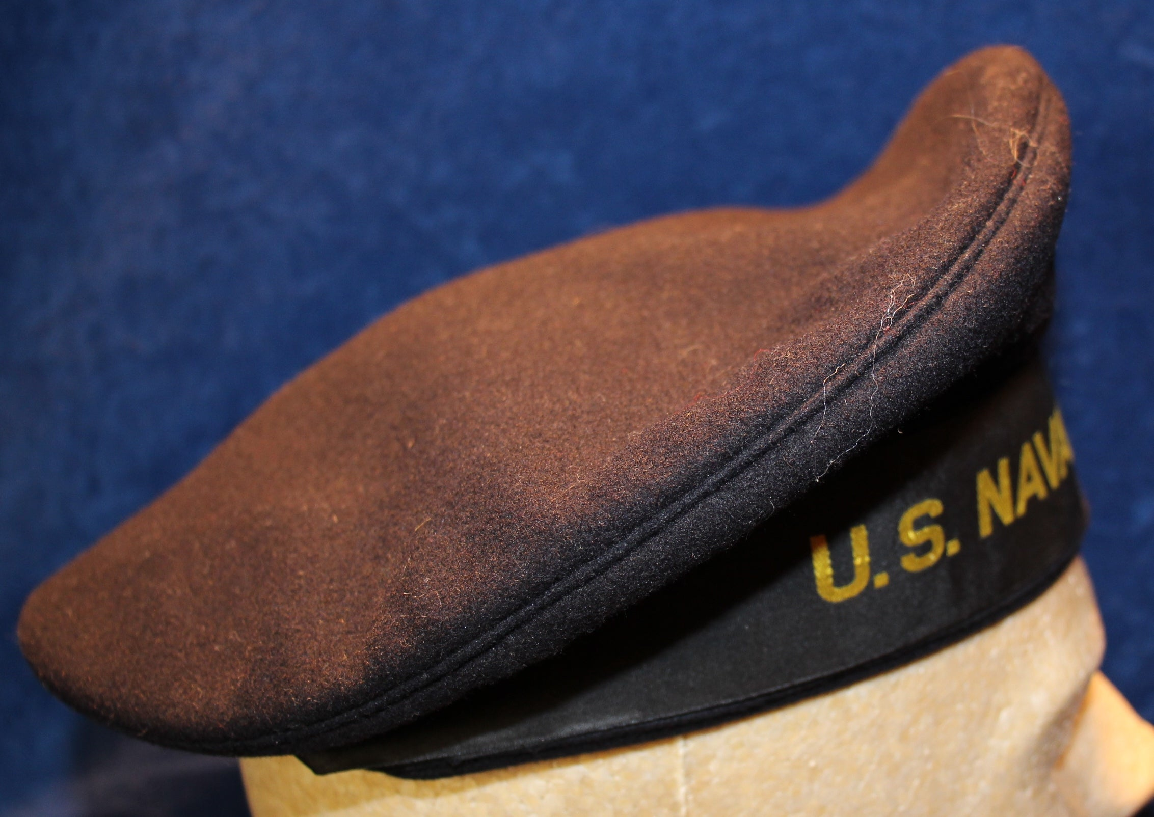 69eff82c87c VINTAGE WWII US NAVY EMBROIDERED US NAVAL AIR STATION DONALD DUCK CAP NO  HOLES