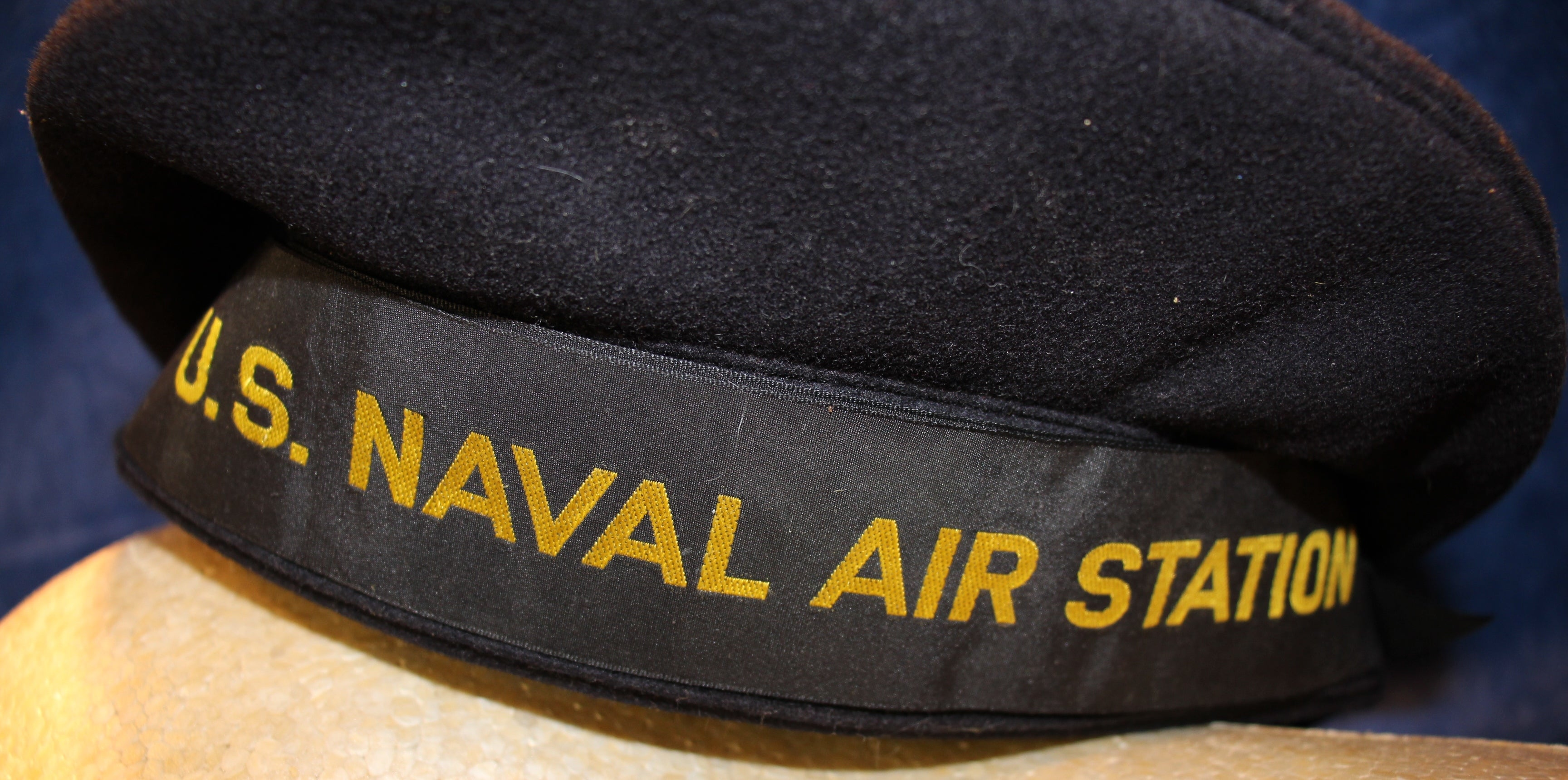a8ad2654df9 COM VINTAGE WWII US NAVY EMBROIDERED US NAVAL AIR STATION DONALD DUCK CAP NO