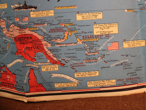 1944 INVASION MAP OF THE PACIFIC AND THE FAR EAST---REVERSE SIDE WAR on 1st usa map, broken usa map, license plate usa map,
