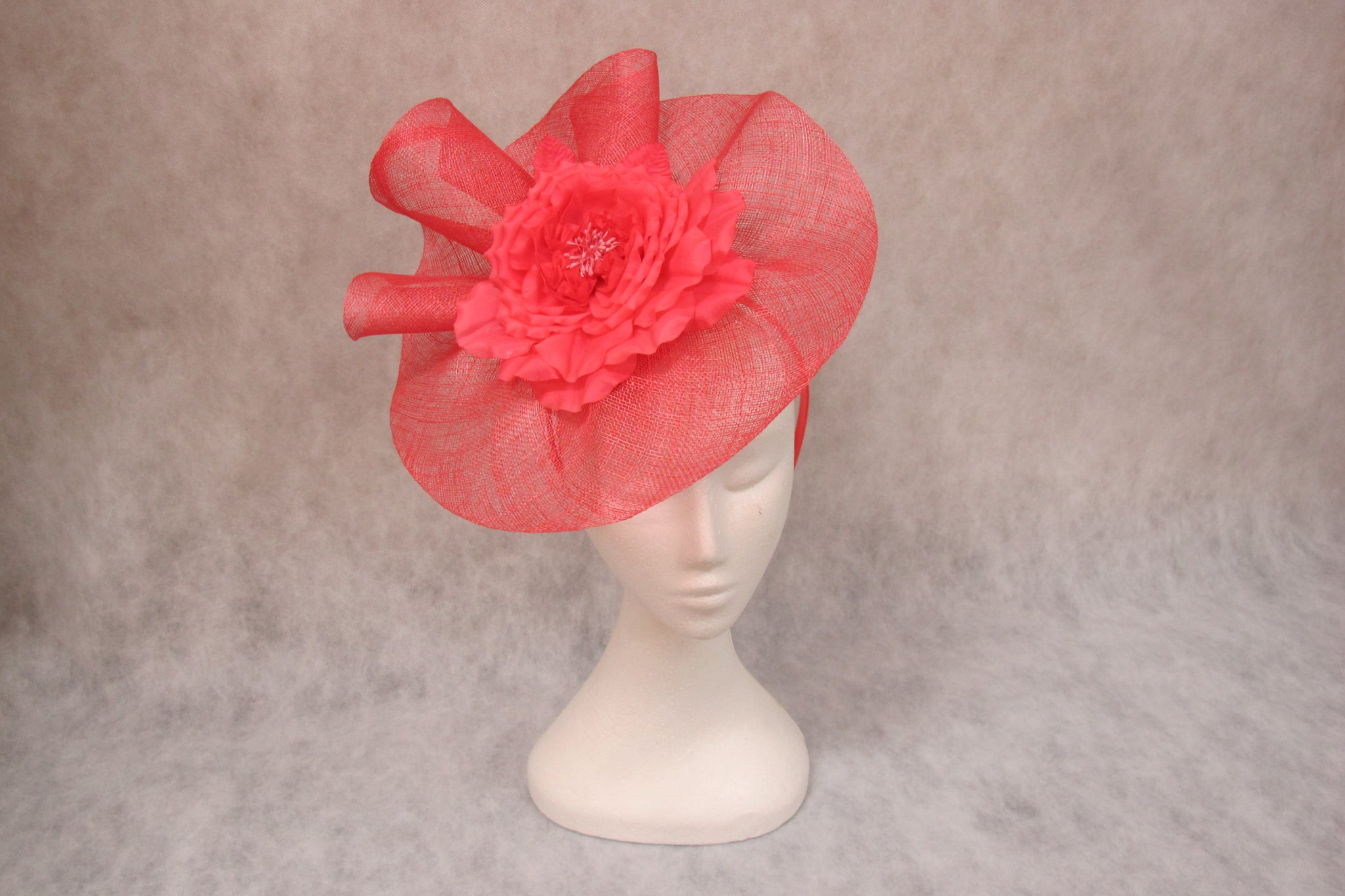 jendi fascinator in melon