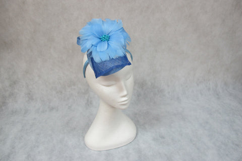 jendi fascinator in bluebell