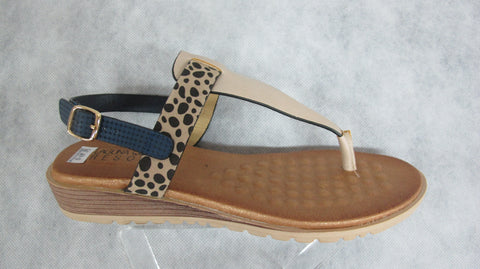 laguna quays resort mawa in navy/blush/cheetah