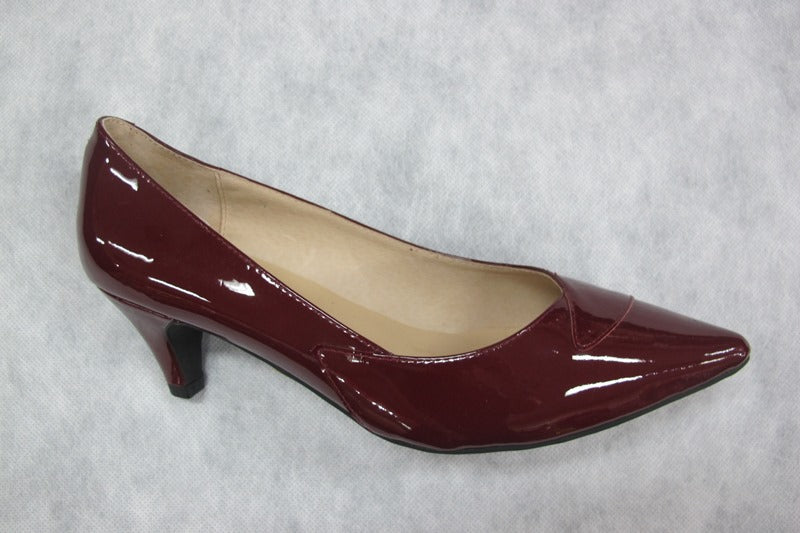 chrissie prima in burgundy patent