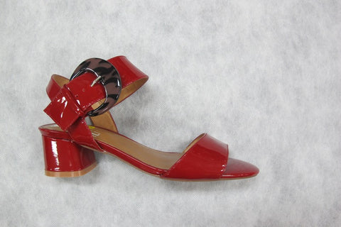 lunar minnie in a red patent