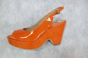 vanilla moon 18317 in orange patent