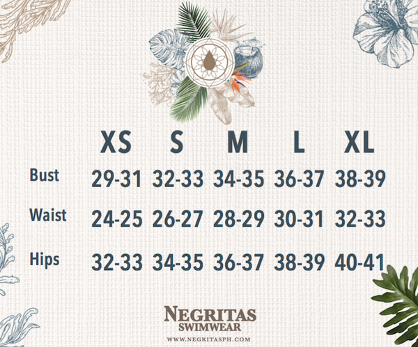 Negritas Size Chart