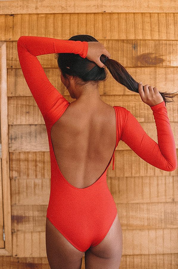 Negritas Red Bikini One Piece Swimmie